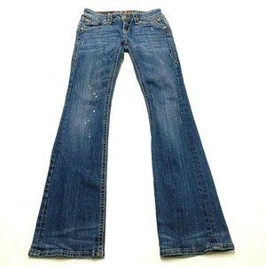 Rock Revival Patti Boot Cut Blue Jeans Sz 26x32 Fl